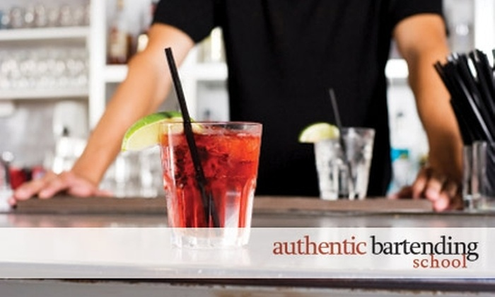 Authentic Bartending School - Koreatown: $99 for a Bartending Course at Authentic Bartending School