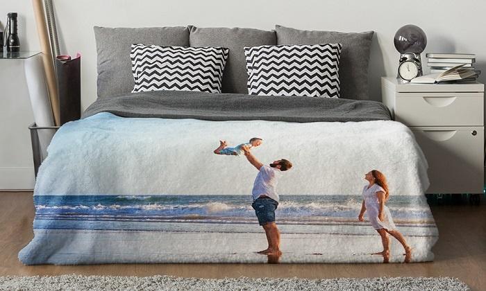 1 ou 2 couvertures polaire personnalisées de 100 x 75 cm à 150 x 100 cm dès 7,99 €