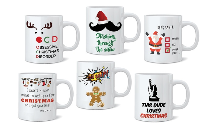 Christmas Mugs.Christmas Mugs Choice Of Designs Groupon Goods