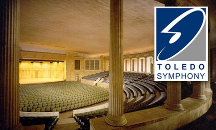 Tickets to Three Different Performances of the Toledo Symphony. Multiple Dates and Seating Sections Available.