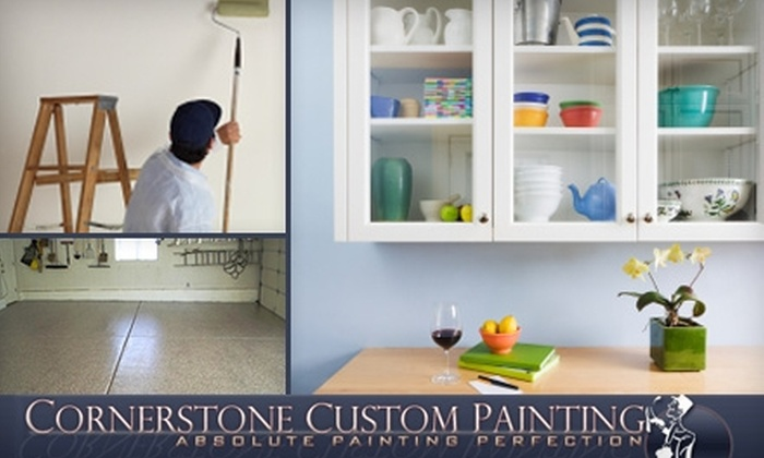 Cornerstone Custom Painting - West Jordan: $89 for Professional Interior Painting for One Room from Cornerstone Custom Painting (Up to $252 Value)