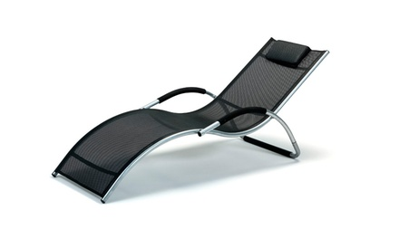 Aluminium and Textilene Sun Lounger 259 Including Delivery