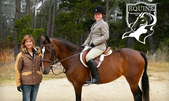Equine Unlimited - South El Dorado: $48 for Two Private Horseback-Riding Lessons at Equine  Unlimited in Rescue ($120 Value)