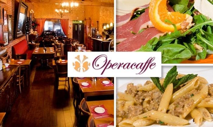 Operacaffe - Gaslamp: $20 for $45 Worth of Italian Fare at Operacaffe