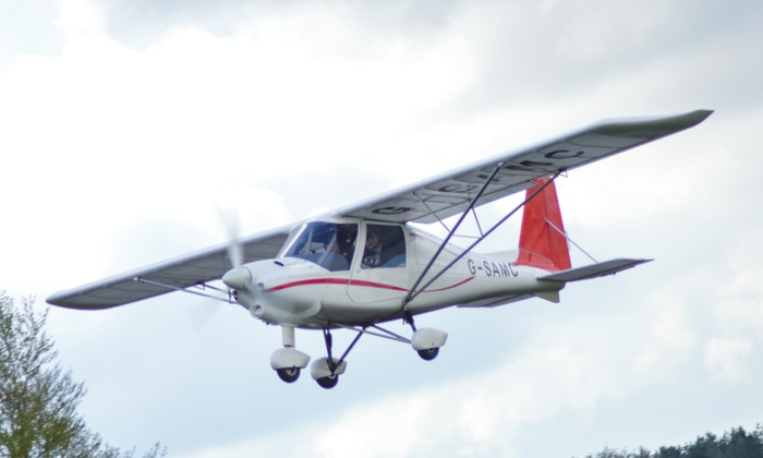Membury Flying Club - Reading: One- or Two-Hour Microflight Flying Lesson with Membury Flying Club (Up to 55% Off)