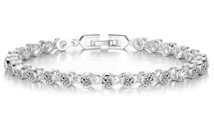 One or Two Philip Jones Solitaire Bracelets with Crystals From Swarovski®