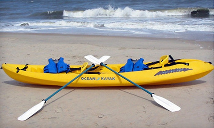 American Watersports - Sea Gardens Beach & Tennis: Kayak Outing with a Single or Double Kayak from American Watersports in Pompano Beach (Half Off)