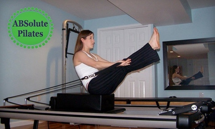 Absolute Pilates & Wellness Center - Silver Spring: $75 for Five Private Pilates Lessons ($175 Value) or $20 for Four Group Pilates Mat Classes ($48 Value) at Absolute Pilates & Wellness Center