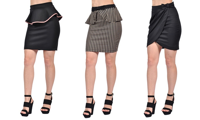 Mystic Women's Knee-Length Fashion Skirts