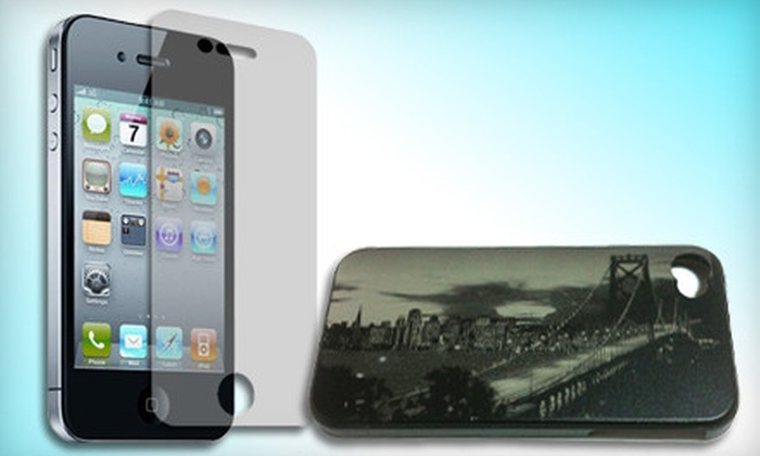 iCessories: Aluminum, Silicone, or Custom Photo Case for an iPhone with Earbuds and Screen Protector from iCessories (Up To 51% Off)