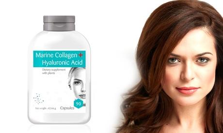 Hasta 720 cápsulas de ácido hialurónico y colágeno marino Oferta en Groupon