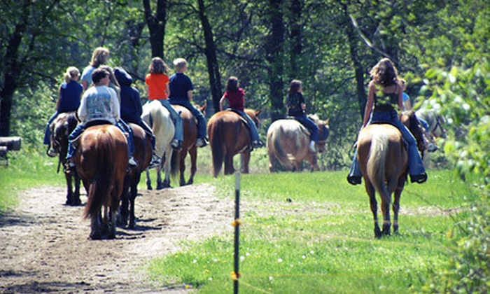 Bunker Park Stable - Andover: $32 for a 60-Minute Group Horseback Ride for Two at Bunker Park Stable (Up to $64 Value)