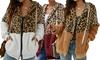 Fleece-Jacke mit Leoparden-Muster