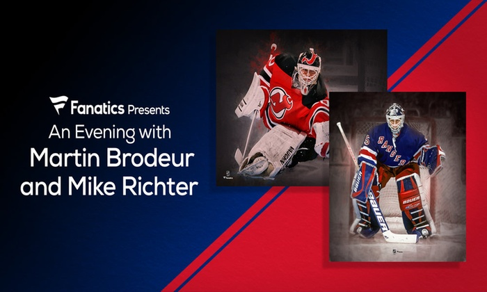 An Evening With Rivals Martin Brodeur And Mike Richter In Jersey