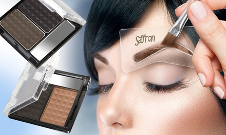 One or Two Eyebrow Kits with Stencils from £2.99 (Up to 81% Off)