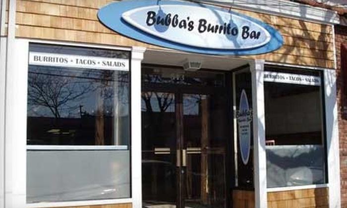 Bubba's Burrito Bar - Islip: $7 for $15 Worth of Mexican Fare and Drinks at Bubba's Burrito Bar in Islip