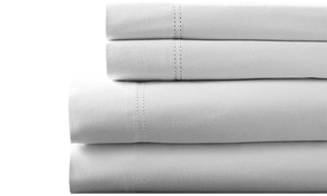 100% Egyptian Cotton 1,000TC Baratta Hem Sheet Set (4-Piece)