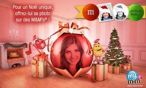 My M&M's: Idée cadeau : Personnalisez vos M&M's® avec un bon d'achat de 15€ pour 3,50€ seulement