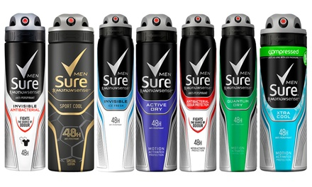 Six-Pack of Sure Mens Antiperspirants