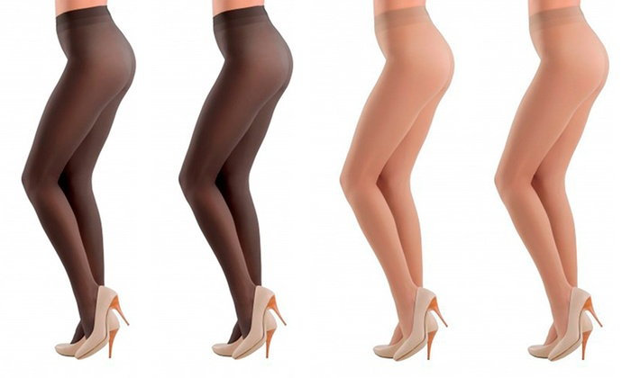 Women's Pantyhose with Silky Glacé Effect