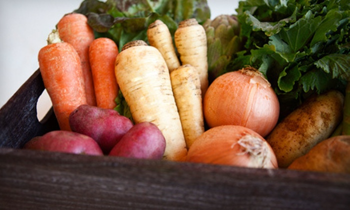 Brown Box Organics: Eight Weeks Of Small Or Bountiful Fruit And Vegetable  Boxes Plus $20