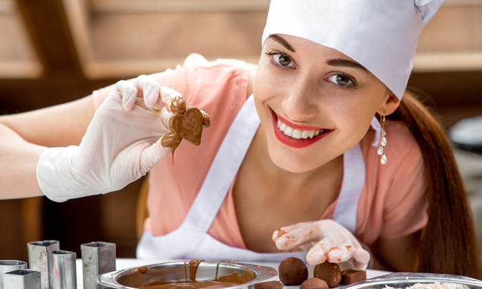 Build It Workspace - Los Alamitos: Chocolate Creations Class for One, Two, or Four with Wine at Build It Workspace (Up to 56% Off)