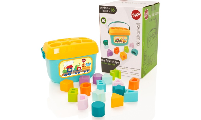 Tippi My First Shape Sorter Bucket Toy
