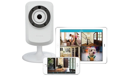 D-Link Day and Night Wi-Fi Security Camera with Sound and Motion Detector (Refurbished)