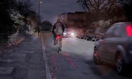 2 luces láser rojos para bicicletas de alta visibilidad por 8,92 € (64% de descuento)