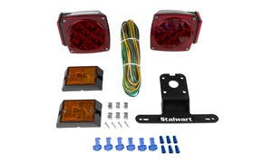 Stalwart 12V LED Trailer Light Kit For Trailers Under 80 Feet