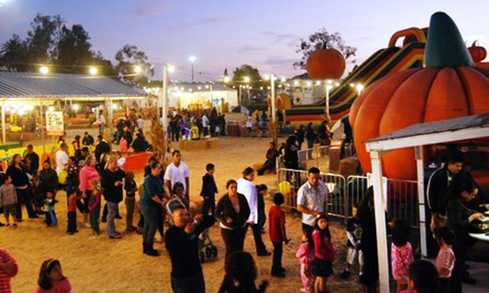 Pumpkin Station - Multiple Locations: $15 for 12 Ride and Activity Tickets at Pumpkin Station ($30 Value)