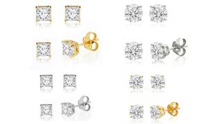 1/10 - 2.00 CTTW Diamond Solitaire Stud Earrings in 10K by DeCouer