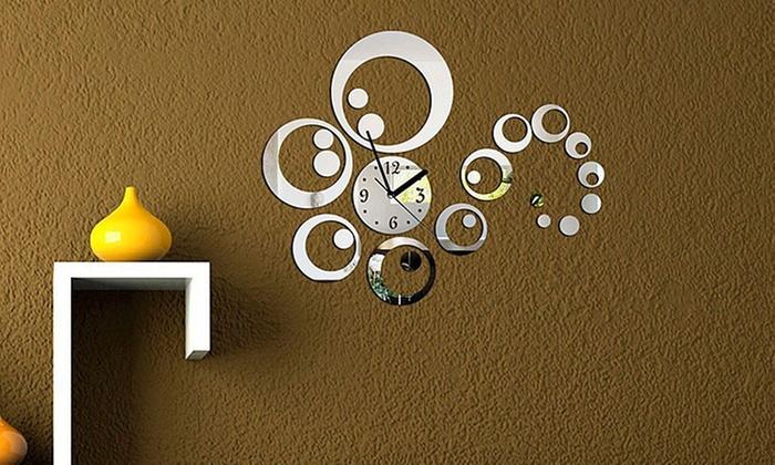 Tessere mosaico e orologio a specchio groupon goods - Orologio a specchio ...