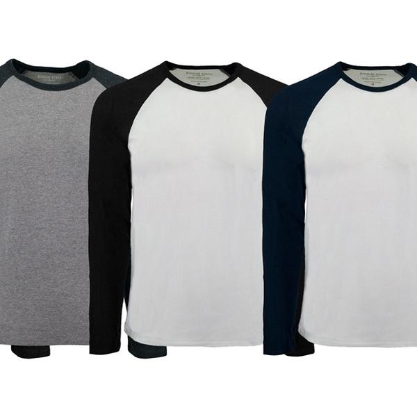 Rogue State Men/'s Raglan 2-Tone Shirt Navy//White M