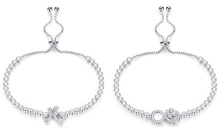 Bracelets Vanilla et/ou Clayrina de la marque VAN AMSTEL ornés de zircons, dès 14,90€