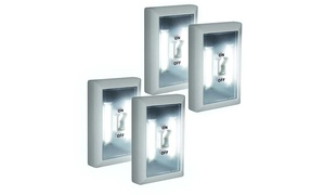 Super Bright Switch Wireless Peel and Stick LED Lights (4 Pack)