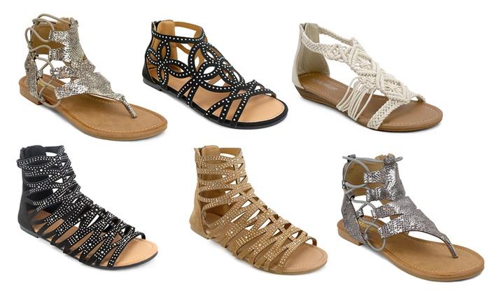 de39328770f7 Olivia Miller Women s Gladiator Sandals