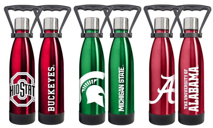 NCAA Ultra Water 18oz. Stainless Steel Vacuum Bottle