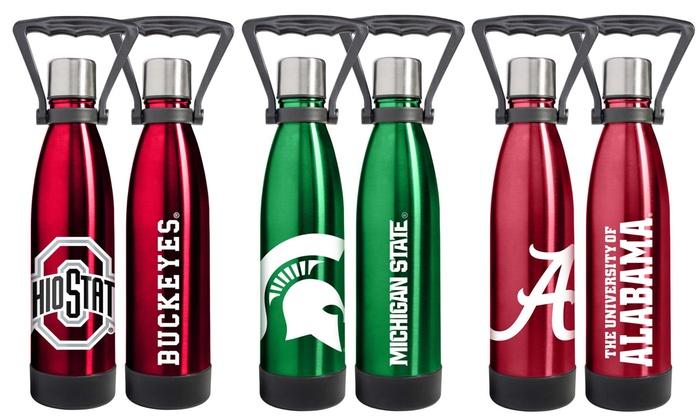 NCAA Ultra Water 18oz. Stainless Steel Vacuum Bottle