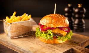 The Rock Hotel: Burger and Fries with Beer for Two or Four at The Rock Hotel