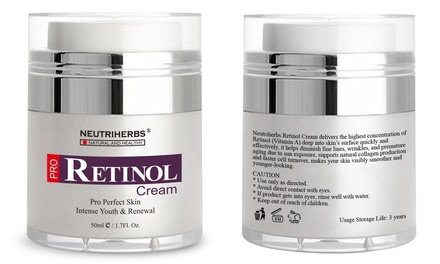 Neutriherbs Retinol 50ml Creams for Wrinkles: One ($29.95) or Two ($44.95)