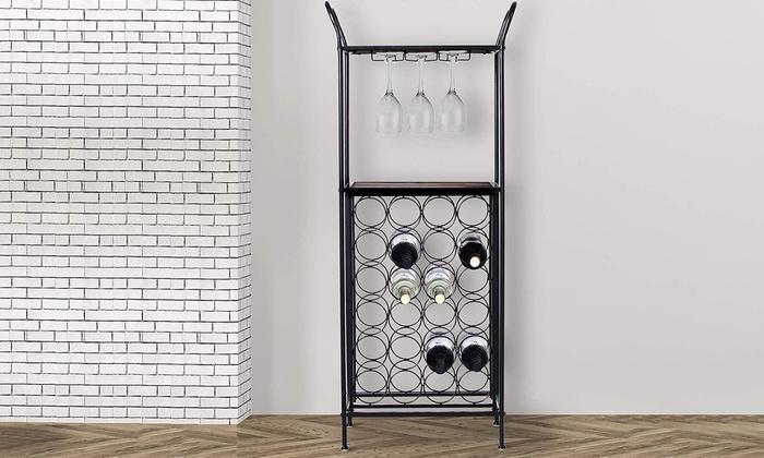 HOMCOM 24-Bottle Metal Wine Rack