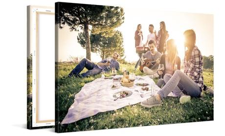 1 o 2 foto-lienzos con 8 dimensiones a elegir desde 2,95 € con Photo Gift