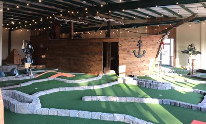 image for <strong>Mini-<strong>Golf</strong></strong> at Pirate Putt Indoor Miniature <strong>Golf</strong> (Up to 44% Off)