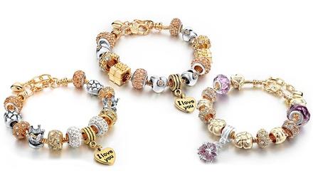 Relojes Love Charm bañados en oro y adornados con cristales de Swarovski Elements® por 12,90 € (78% de descuento)
