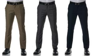 Men's Slim-Fit Solid Dress Pants