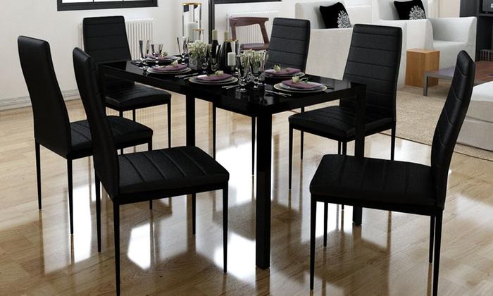 Ensemble De Table Avec 6 Chaises Groupon