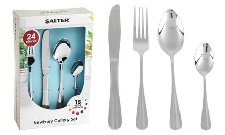 Salter BW03142 Elegance 24 Piece Newbury Stainless Steel Cutlery Set