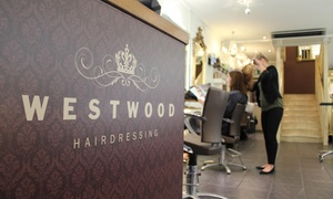 Westwood: Cut, Blow-Dry and Choice of Treatment with Optional Conditioning or Highlights at Westwood (Up to 67% Off)