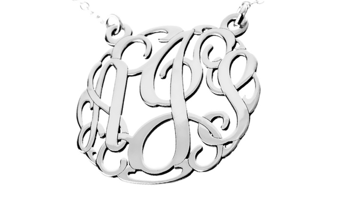 AJ's Collection: Personalized 3-Initial Monogram Necklace from AJ's Collection
